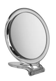 Circle Perspex Travel Mirror x 10 magnification 15cm diameter