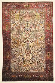 fine antique silk persian kashan tree of life rug genuine woven carpet art intricate santa barbara