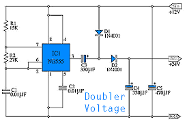 simple doubler voltage 12 to 24volt dc electronic circuit 12V DC Wire Size Chart simple doubler voltage 12 to 24 vdc circuit