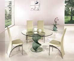 swirl round glass dining room table and 4 chairs set round glass dining tables and chairs