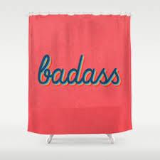badass shower curtains. Badass - Pink Version Shower Curtains F