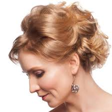 short curly updo hairstyles for mother of the bride