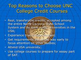 unc online college credit courses description of services english  12