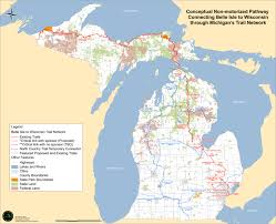 is governor snyder's belle isle to wisconsin trail for bikes  m