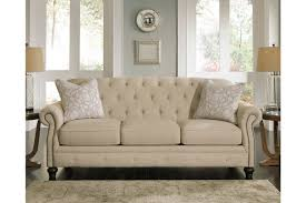 natural color furniture. Beautiful Ashley Furniture Tufted Sofa Picture Design Traditional Kieran Diamond Back Natural Color Subtle Textured Twill Upholstery Matching
