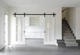 home office doors. Sliding Glass Paneled White Doors On Bronze Rails Slide Open To Reveal A  Home Office E