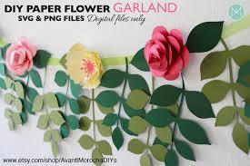 Paper Flower Garland Diy Paper Flower Garland Patterns Svg And Png Cricut Cameo Cutouts