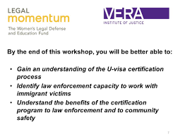 1 Building Law Enforcement Capacity To Serve Immigrant Victims The