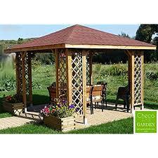 garden gazebo. FAST\u0026FREE DELIVERY 3m X (Ex 3.5m 3.5m) GARDEN WOODEN PAVILION GAZEBO PERGOLA HOT TUB Garden Gazebo
