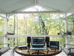 Small Picture Mac Setups Back Porch Music Studio with a MacBook Pro 15 iPad 2