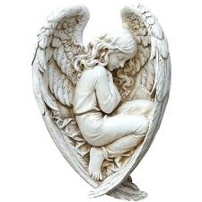 frightening sleeping angel outdoor statue a liked on featuring home outdoor landscape statues
