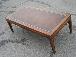 5 out of 5 stars (253) Nice Vintage Weiman Mahogany Leather Top Coffee Table With Free Shipping 421366833