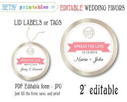 printable labels for mason jars items similar to mason jar wedding favor editable label editable