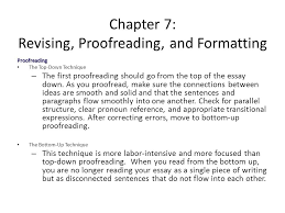proofreading essay chapter 7 revising proofreading and formatting ppt video online