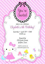invitation card hello kitty kitty party invitation cards maker creative themes templates wedding