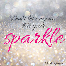 A Poster With A Glitter Background And The Quote Don't Let Anyone Impressive Sparkle Quotes