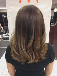 Ombre Hair Dark Brown To Blonde Medium Length The Latest Hairstyle