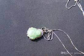 whole handmade 925 silver inlaid jade buddha pendant green jade necklace pendant best gift pendant necklaces for women personalized pendant necklaces
