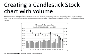 How To Draw Candlestick Chart In Excel Creating A Candlestick Stock Chart Microsoft Excel 2016