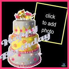 birthday cake animated. Exellent Birthday Imikimi Zo  Birthday Frames Animated Layered Cake Beautiful  White W Glitter Chai_hua_hua And