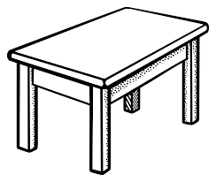 round table clipart black and white. pin table clipart line #1 round black and white