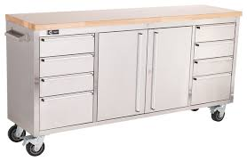 trinity stainless steel 72 rolling workbench