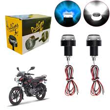 Bar End Lights For Pulsar Pulgos Handle Bar End Led Bike Turn Signal Indicator Light