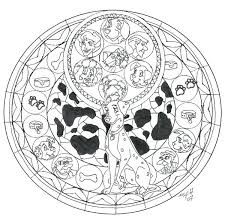 Disney Stained Glass Patterns Beach Coloring Pages Unique Simple