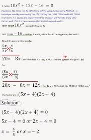 solving complex quadratic equation by factoring part ii