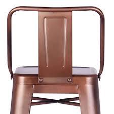 distressed metal furniture. Ac Pacific, Set Of 2 Distressed Metal Barstool Vintage Copper 30\ Furniture B