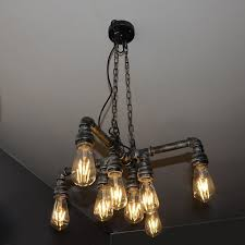 edison retro loft style vintage industrial pendant light lamp metal water pipe luminaire lampara colgantes