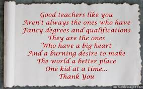 Teacher Message Thank You Messages To Teachers From Parents Notes And