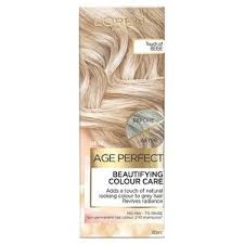 Age Perfect Hair Color Chart Age Perfect Colour Care Beige Grey Hair Toner