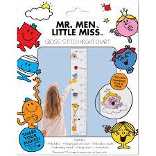 Little Miss Chart Mr Men Little Miss Cross Stitch Height Chart