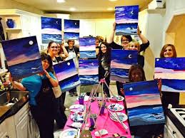 benefits of paint and sip parties at homeyou can catch up with you family friends or co workers while creating something right in your home