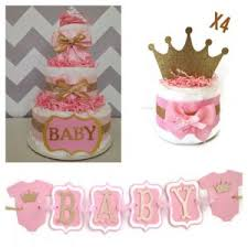 Pink Gold Royal Princess Party Planning Ideas Supplies Idea Cake Princess Theme Baby Shower Centerpieces
