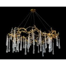 Image Bent Brass And Glass Teardrop Eightlight Chandelier Johnrichard Brass And Glass Teardrop Eightlight Chandelier Our Products