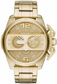 men s diesel ironside gold chronograph watch dz4377