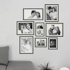 decorations fascinating picture frame wall decor design ideas with black frame on white wall paint