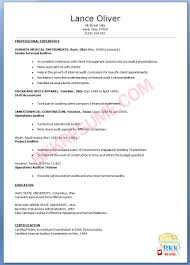 Resume Internal Auditor Resume
