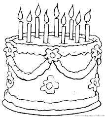 Colouring Pages Birthday Cake Birthday Cake Ng Pages Printable Page