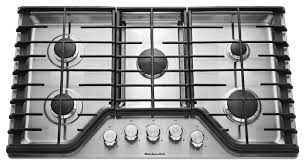 kitchenaid 30 built in gas cooktop stainless steel larger front