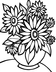 Small Picture Flower Coloring Pages Easy Coloring Pages