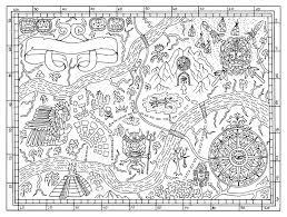 Pirate map drawing
