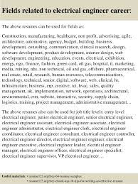 Electrical Engineering Resume Samples Top 8 Electrical Engineer Resume Samples