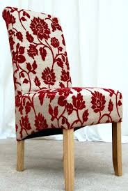 red upholstered dining room chairs. Dining Chairs: Cool Chairs Colors Red With Fabric Skirted Purple Upholstered Room O