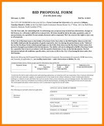 Bid Proposal Cool Sample Bid ProposalFormalBidProposalFormjpg Graduate Resume