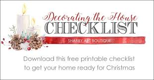 Free Printable Checklist For Christmas Decorating - Shabby Art Boutique