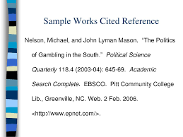 Parenthetical In Text References Works Cited Page Ppt Download
