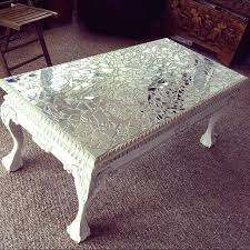 diy glass mosaic table top mirror mosaic table top elegant broken glass on painted vintage table of home interior decorating design ideas